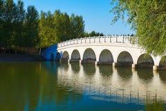 The bridge and lake Royalty Free Stock Photos