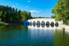 The bridge lakeside Royalty Free Stock Image