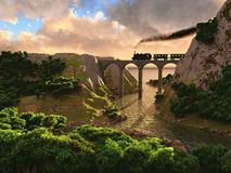 Bridge landscape Royalty Free Stock Photography