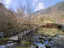 Bridge into the Langstrath valley, Lake District Royalty Free Stock Image