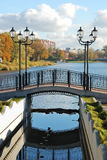 Bridge with lanterns Royalty Free Stock Photo