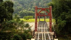 Bridge in Laos Stock Photo
