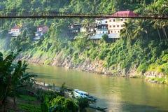 Bridge in Laos Stock Image
