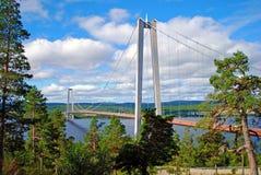 Bridge. Large bridge over the lake Stock Photography