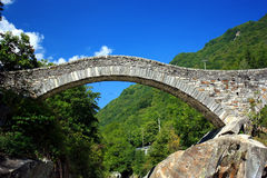Bridge Lavertezzo Royalty Free Stock Photography