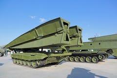 Bridge-laying tank Stock Images