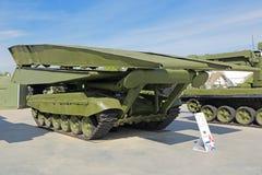Bridge-laying tank Stock Image