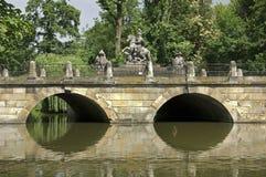 Bridge in Lazienki park in Warsaw. Poland, Stock Image