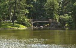 Bridge in Lazienki park in Warsaw. Poland Royalty Free Stock Image