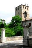 Bridge leading into the small village of Portobuffolè in the province of Treviso in the Veneto (Italy) Stock Photos