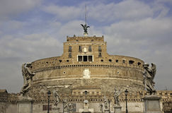 Bridge leading to Castle Sant'Angelo , Rome Royalty Free Stock Photography