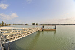 Bridge leading to the floating pier Stock Photography