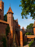 Bridge leading to High Castle in Malbork Royalty Free Stock Image