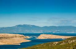 Bridge leading to Krk island Stock Images