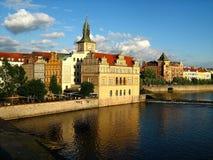 Bridge Legii. Prague view from the bridge Legii Royalty Free Stock Photo