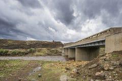 Bridge in Lesotho mountains Royalty Free Stock Image