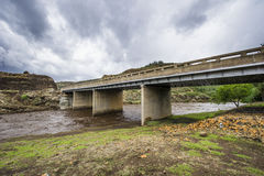 Bridge in Lesotho mountains Stock Images