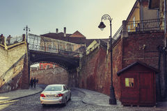 Bridge of lies, Sibiu, Romania Stock Photos