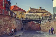 Bridge of lies, Sibiu, Romania Royalty Free Stock Photos