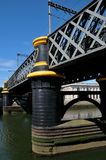 Bridge on Liffer river, Dublin Royalty Free Stock Photo