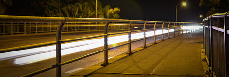 Bridge Light Trail Royalty Free Stock Images
