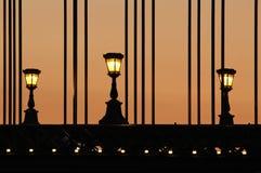 Bridge lights Royalty Free Stock Photography