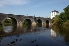 Bridge in Limburg, Germany. Ancient bridge over the Lahn river in Limburg, Germany stock images