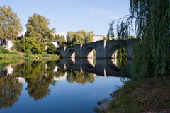 Bridge in Limoges. Bridge over the river of Limoges, France Royalty Free Stock Photos