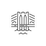 Bridge Line Icon. Linear illustration of a bridge. Vector line style icon Royalty Free Illustration