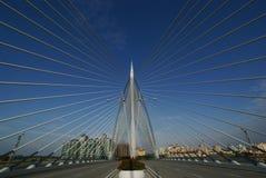 Bridge of Lines. A new design bridge in Putrajaya, Malaysia taken in noon time Stock Photo