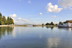 Bridge linking the park and the island Royalty Free Stock Photography