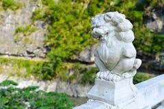 Bridge of 100 lions. A lion from Bridge of 100 lions, Taroko national park Royalty Free Stock Photos