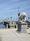 The Bridge of Lions in St Augustine. Royalty Free Stock Images