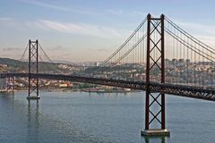 Bridge in Lisbon Stock Photography
