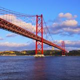 Bridge in Lisbon Royalty Free Stock Photo