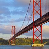 Bridge in Lisbon Royalty Free Stock Images