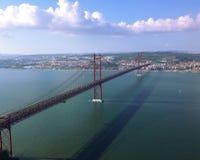 Bridge in Lisbon Royalty Free Stock Photography
