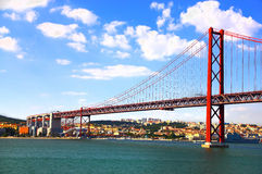 Bridge in Lisbon, Portugal Royalty Free Stock Photos