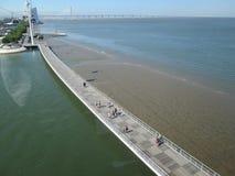 Bridge in Lisbon Stock Image