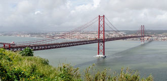 Bridge in Lisbon Royalty Free Stock Photos