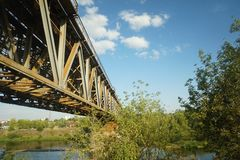 Bridge in Lithuania Royalty Free Stock Photos