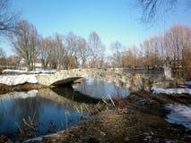 Bridge. Little bridge and park landscape Royalty Free Stock Photography