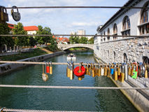 Bridge in Ljubljana Stock Photos