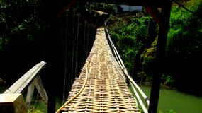 Traditional Suspension Bridge royalty free stock photo