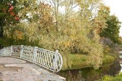 Bridge with locks. Petrozavodsk, Russia 23.09.2015. Stock Images
