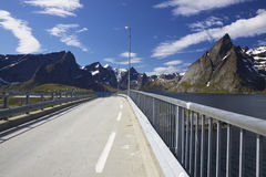 Bridge on Lofoten Royalty Free Stock Photo