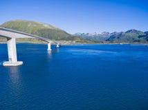 Bridge on Lofoten Stock Photography