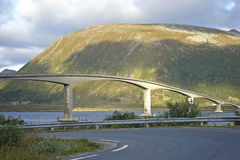 Bridge on Lofoten islands Royalty Free Stock Image