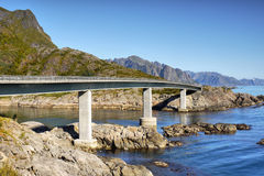 Bridge, Lofoten Islands Royalty Free Stock Images