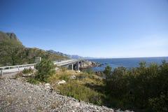Bridge on Lofoten islands Stock Photo